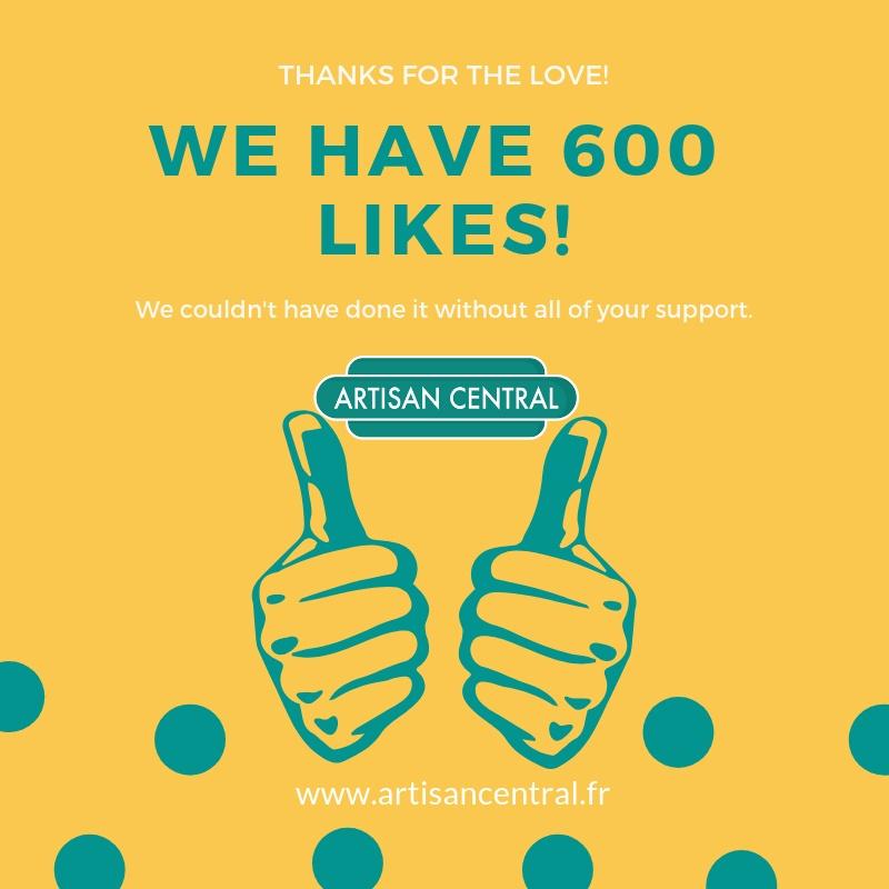 600 Likes on Facebook!