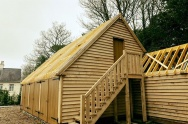 Creation of large Timber Framed Barn